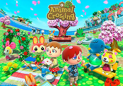 PERSONALISED ANIMAL CROSSING A3 Laminated Poster 303 x 426mm - YOUR NAME