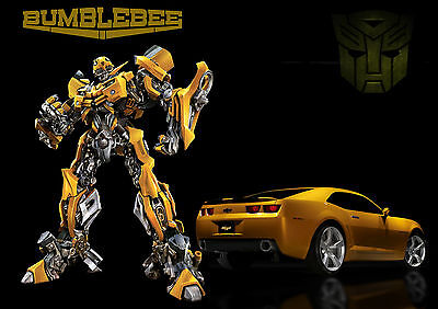 PERSONALISED TRANSFORMERS BUMBLEBEE A3 Laminated Poster 303 x 426mm - YOUR NAME