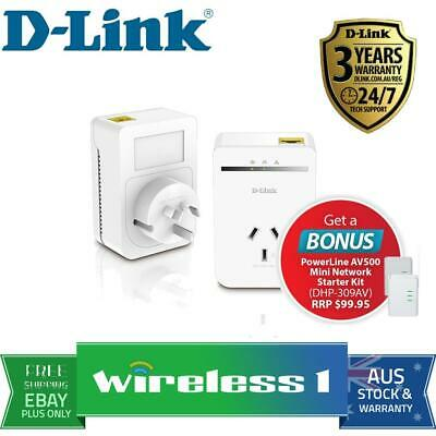 D-Link DHP-P309AV Powerline AV500 P/t Adapter Kit