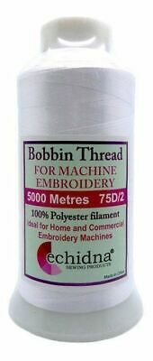 Polyester Bobbin Thread 5000m 75D/2 White