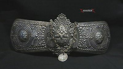 Antique Fine Huge Silver Belt Buckles - 19th century - Balkan Region • CAD $502.74