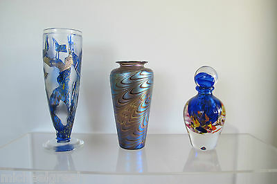 HUGE 2kg SIGNED Novaro Art Glass ON THE RIGHT. 21cm Ht French Studio.Murano era.