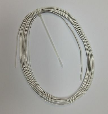 10m White Flat 2 Core Bell Wire / Cable - Use with Door Bells