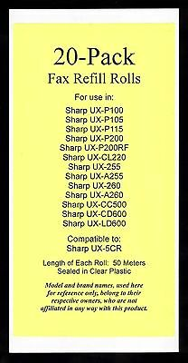20-pack UX-5CR Fax Refills for Sharp UX-P200 UX-CL220 UX-CC500 UX-CD600 UX-LD600