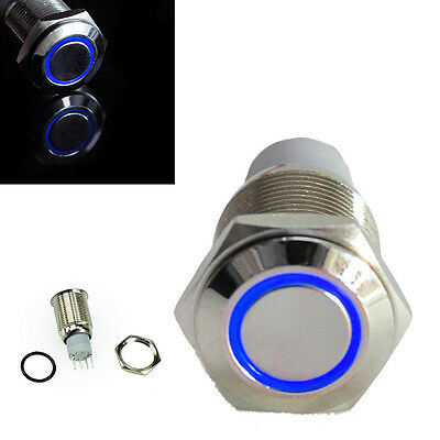 Blue Led 12V 16mm Metal Push Button Latching Switch For Car Boat DIY JKstore