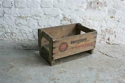 Vintage Industrial French Bottle Crate Box #1015