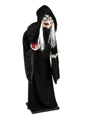 New Snow White Witch Halloween Animated Prop Life Size Evil Queen