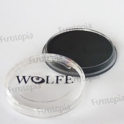 Wolfe FX 30g Pot Essential Black PE1010 Professional Face and Body Paint Make up