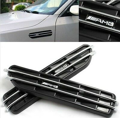 AMG Car Body Side Vent Modified Shark Gills Decoration Sticker For Mercedes Benz