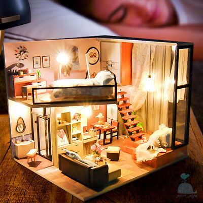 DIY Handcraft Miniature Project My Dream Attic Studio Wooden Dolls House