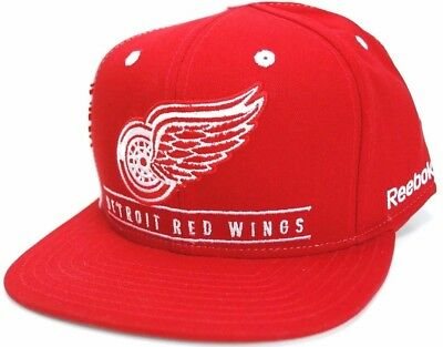 brand new b1183 3750b Detroit Red Wings Reebok NF92Z NHL Team Logo Snapback Hockey Cap Hat