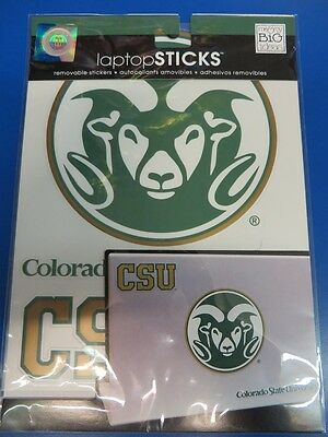 Colorado State Rams NCAA University College Tablet Laptop Removable Stickers