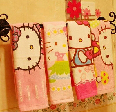 Top Selling 2pcs/set Cute Hello Kitty Towel Cartoon Face Towel For Children Girl