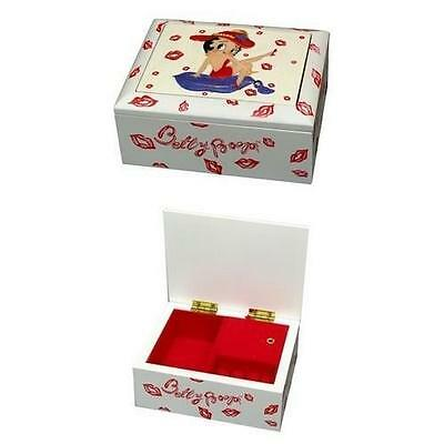 0179-01250 Resin With Fabric Betty Boop Music Box
