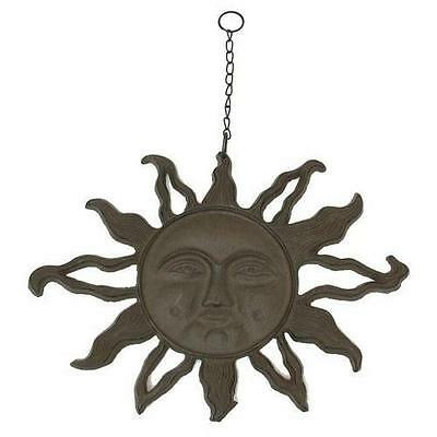 0184S-0320 Large Solid Cast Iron Hanging Sun Face 10 1/2' x 14""