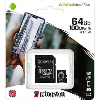 Kingston 64GB Micro SD SDXC MicroSD Class 10 64G 64 GB Canvas Select Memory Card