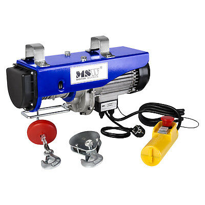 WIRE ROPE - 800kg ELECTRIC HOISTING PROFESSIONAL CABLE HOIST WINCH 1300W NEW PRO