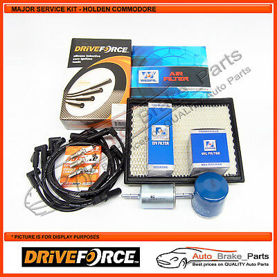 Major Service Kit with DRIVEFORCE Leads for HOLDEN COMMODORE VT 3.8Ltr V6