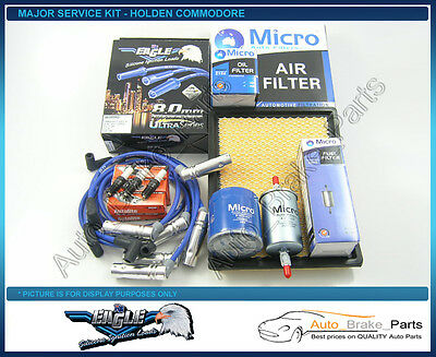 Major Service Kit with EAGLE H/Duty Leads for HOLDEN COMMODORE VY 3.8Ltr V6
