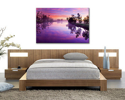 Wall Art Picture Blue Skys 5 Panel Canvas Print #025 Beautiful Sunset