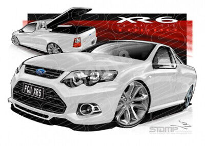 Ute FG XR6 MKII UTE FG XR6 TURBO UTE WINTER WHITE  STRETCHED CANVAS (FT380)-New_