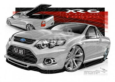 Ute FG XR6 MKII UTE FG XR6 TURBO UTE STRIKE SILVER  STRETCHED CANVAS (FT381)-New