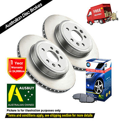 2 FRONT DISC BRAKE ROTORS NISSAN PATHFINDER R51 07/05-on WITH PADS ADR2310