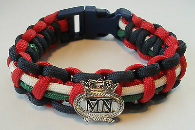 Merchant Navy Paracord Wristband With Badges