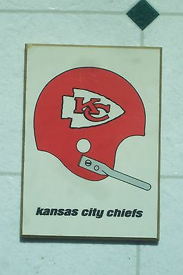 KENTUCKY ART PLAQUE NFL KC CHIEFS 5 X 7