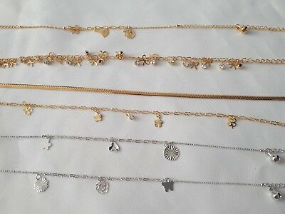 Gold,Silver Plated Anklet,Bracelet ,Ankle Chain Payal Jingle Bell