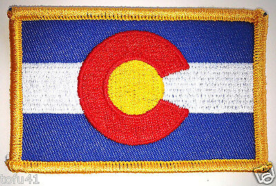 *** COLORADO STATE FLAG *** Biker Patch PM6806 EE