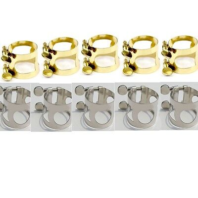 10 pcs metal ligature for alto saxophone mouthpiece gold / nickel  plated
