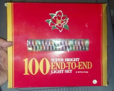 NEW 100 SUPER BRIGHT End-To-End Light Set Multi Colors Indoor/Outdooe
