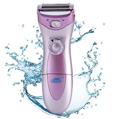 New Hs-3001 Wet Dry Electric Ladies Lady Shaver Cordless Trimmer Hair Removal Uk