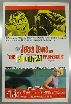 The Nutty Professor -Jerry Lewis/stella Stevens- Original Usa 1Sht Movie Poster