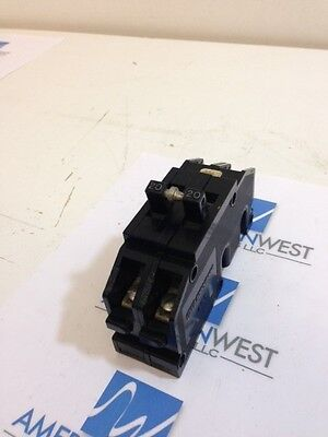 GTE Sylvania QC220 20 AMP 2 Pole Circuit Breaker Used