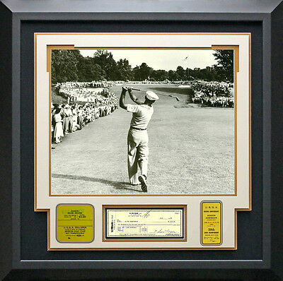 Ben Hogan U.S. Open Photo - Signed Check Display.