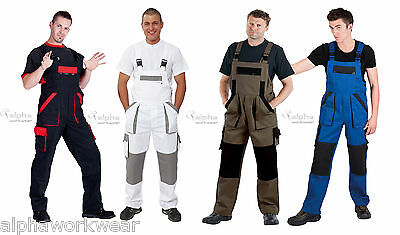 Work Trousers Bib and Brace Overalls Pants Mens New MAX 100% heavyweight cotton.