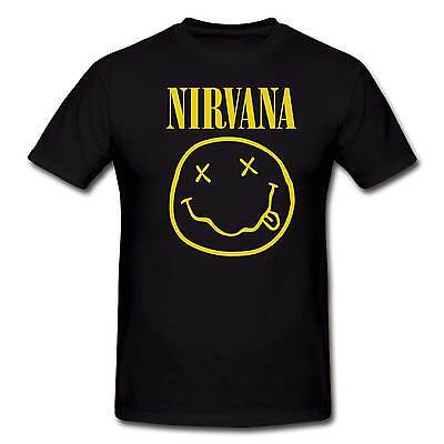 Nirvana Smiley Face Rock Retro T Shirt