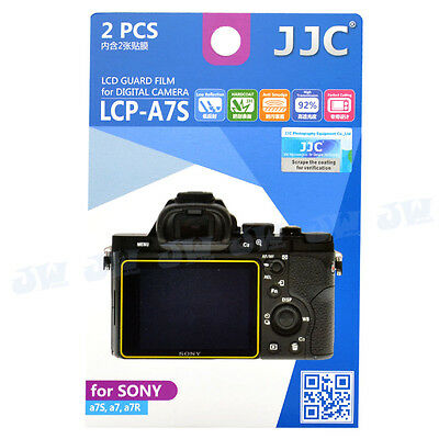 JJC 2pcs Set LCD Film Camera Screen Guard Display Protector For Sony A7 A7S A7R