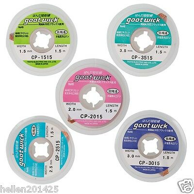 New 5 pcs Desoldering Braid Solder Remover Wick Wire CP-1515/2015/2515/3015/3515