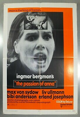 The Passion Of Anna - Ingmar Bergman - Original American One Sheet Movie Poster
