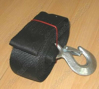 Boat Trailer Winch Hand 50mmx6Meter Strap Hook+Sewn Eye
