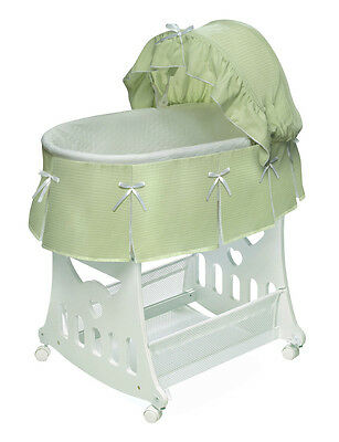 WAFFLE PLEATED PORTABLE BASSINET N CRADLE WITH TOY BOX BASE SHEETS 2 COLORS
