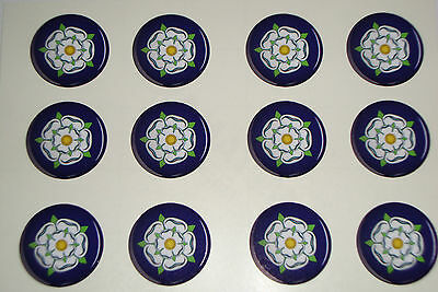 16 Yorkshire Rose   Stickers  3/4""