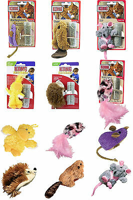 Kong Refillable Catnip Cat Toy Beaver Hedgehog Duckie Rat Mouse Fieldmouse Toys
