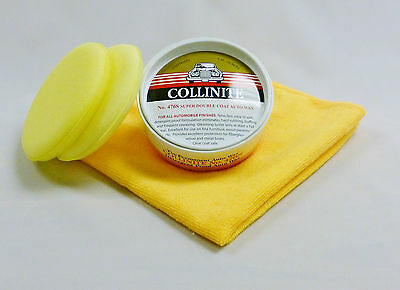 "Collinite No.476S Super Double Coat Auto Wax ""Kit"" - FREE Foam Pads & FREE M/F"