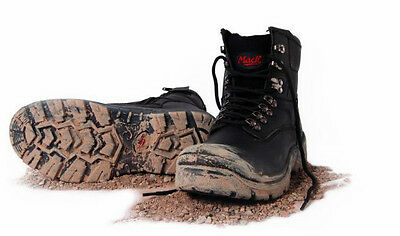 Brand New Mack Blast Black Lace Up Safety Boot With Zipper
