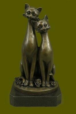Rare Original Milo Bronze Sculpture Signed Statue Artwork Cat Hot Cast Figurine