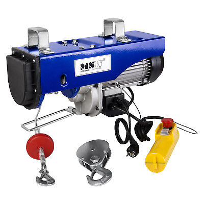 WIRE ROPE - 990kg ELECTRIC HOISTING PROFESSIONAL INDUSTRIAL HOIST WINCH 1600W